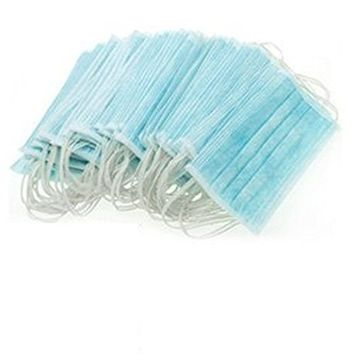 50PCS 3Layers Surgical Dust Filter Face Mask Ear Loop Procedure Mouth Mask Mouth Cover Blue