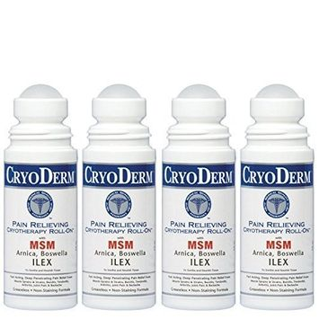 Cryoderm 3 Oz. Roll-On 4-PACK
