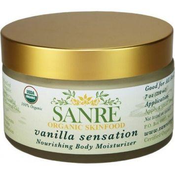 SanRe Organic Skinfood - Vanilla Sensation - 100% USDA Organic Nourishing Body Moisturizer For All Skin Types - No SPF