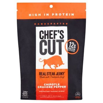 Rsj Ventures Llc Chef's Cut Real Steak Jerky Chipotle Cracked Pepper Smoked Beef, 5.5 oz