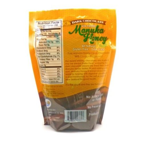 Pacific Resources New Zealand Manuka Dark Chocolate Mint, 18 Ct