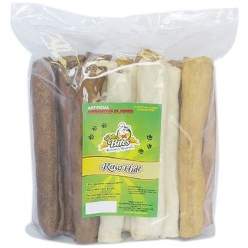 Mr Bites 9-Inch Rawhide Retriever Roll For Dogs, Assorted Flavor, 15-Pack