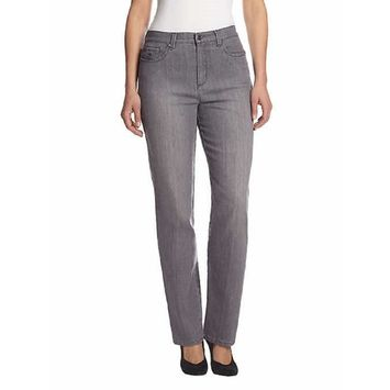 Gloria Vanderbilt Women's Amanda Slimming Stretch Denim Jeans (Glacial Grey, 22W Average) [name: actual_color value: actual_color-glacialgrey]