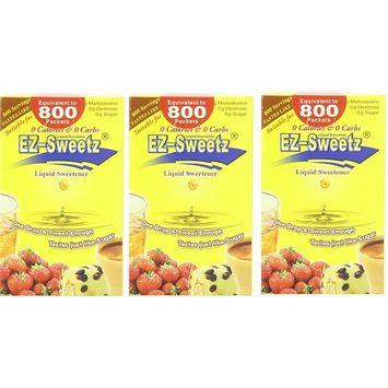 EZ-Sweetz (2.0oz - Liquid Sweetener 800 Servings/Bottle) (Original, 3 Pack)