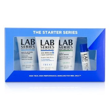 Aramis Lab Series The Starter Series: Multi-Action Face Wash 30Ml + Face Lotion 30Ml + Post Shave 30Ml + Lip Balm 4.3G