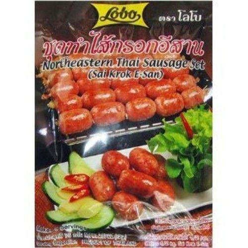 Lobo Set Sai Krok E-san,style Hot Dog 75 G Thai 2pack