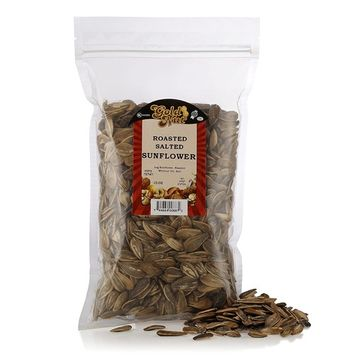 Roasted Salted Sunflower Seeds - Dry Roast Without Oil - Resalable Bag for Freshness - Kosher - 10oz - by Gold Nut