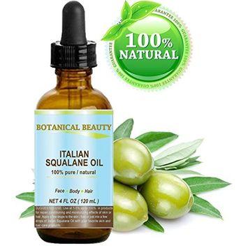 Botanical Beauty Natural Italian Squalane Moisturizer Oil for Face, Body and Hair, 4 fl.oz (120 ml)