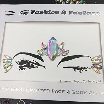 Face Gems FACE JEWELS Body Glitter Sticker Rhinestone Diy make up Adhesive Face Sticker(S071)