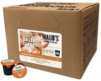 Maud's Coffee Maud's Gourmet Coffee Pods - Dreamy Creamy Salted Caramel, 100-Count Single Serve Coffee Pods - Richly Satisfying Premium Arabica Beans, California-Roasted - Kcup Compatible, Including 2.0