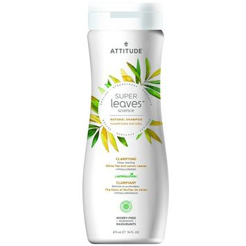 Natural Shampoo for Dull & Oily Hair: EWG VERIFIED, Hypoallergenic & Dermatologist Tested - Super leaves Clarifying (16oz)