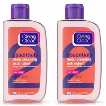 Essentials Oil-Free Deep Cleaning Astringent, 8 fl. oz (Pack of 2)