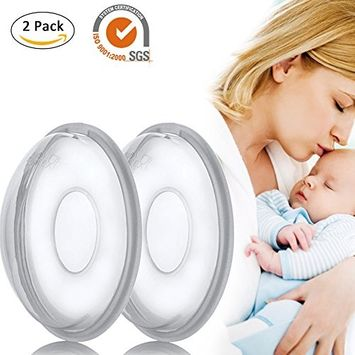 Pueri Breast Shells Milk Saver Breast Milk Collection Cups Soft Silicone Nursing Shells for Breastfeeding, Collect Breastmilk for Nursing Moms, 2 Pack