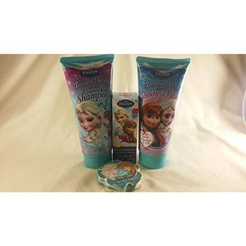 Disney Frozen 4pc Bath Set Frosted Berry Scented Conditioning Shampoo & Body Wash, 1 Magic Towel & Bathtub Fizzies