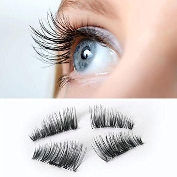 Sunfei EW Ultra-thin 0.2mm Magnetic Eye Lashes 3D Mink Reusable False Magnet Eyelashes Extension (0.2mmA)