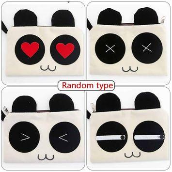 Cute Sweet Panda Pencil Cellphone Cosmetic Makeup Case Bag Pouch Clutch Purse Small Bag