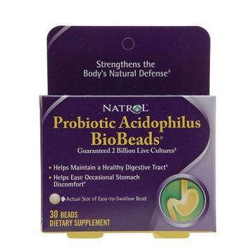 Natrol BioBeads, Probiotic Acidophilus, Beads 30 ea(pack of 6)