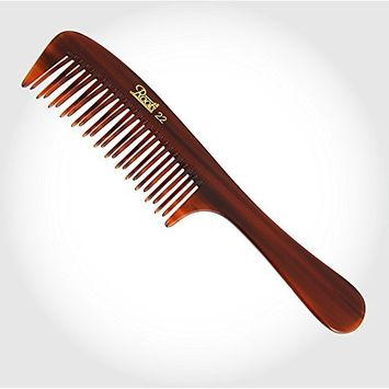 Roots Brown handle Wide Teeth Styling Comb for Volume hair care unisex comb for home