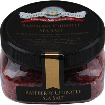 Raspberry Chipotle Sea Salt - All-Natural Sea Salt Infused with Raspberry and Chipotle Peppers, Bright, Bold, Fruity, Spicy - No Gluten, No MSG, Non-GMO - Cooking, Finishing Salt - 4 oz. Stackable Jar [Raspberry Chipotle]