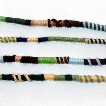 Earth Colors Hippie Hair Extension, Qty: 1 Dreadlocks Accessory, Dread Wrap, Hair Fall, Hair Wrap, Colorful Accessories for Dreads, Braids, Curls