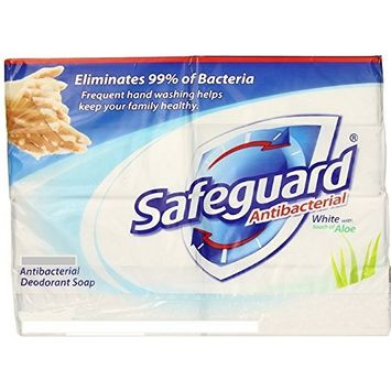 Safeguard Antibacterial Deodorant Soap, White with Aloe, 4 Ounce Bars, 12 Count