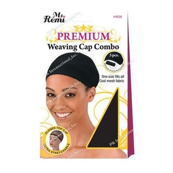 (PACK OF 6) ANNIE MS REMI DELUXE WEAVING CAP COMBO CLOSED TOP [BLACK] (4658) : Beauty