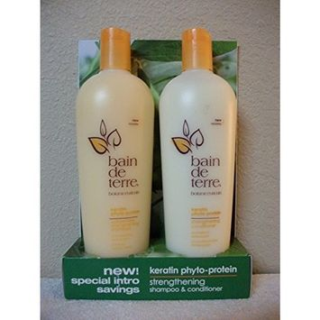 Bain De Terre Keratin Strengthening Shampoo & Conditioner Duo 13.5 Oz