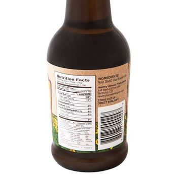 Healthy Harvest Non-GMO Sunflower Oil - Healthy Cooking Oil for Cooking, Baking, Frying & More - Naturally Processed to Retain Natural Antioxidants (Half Liter, 16.9 oz.)
