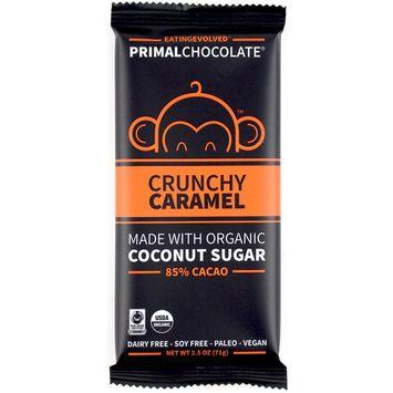 Eating Evolved, PrimalChocolate, Crunchy Caramel 85% Cacao, 2.5 oz (71 g) [Flavor : Crunchy Caramel 85% Cacao]
