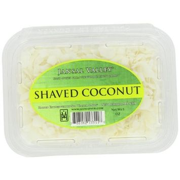 Jansal Valley Unsweetened Shaved Coconut, 8 Ounce