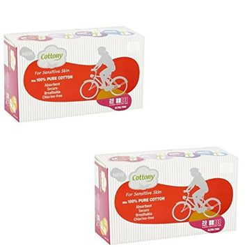 Cottony Cotton for Sensitive Skin Incontinence Pads, Ultra Thin, 20 count