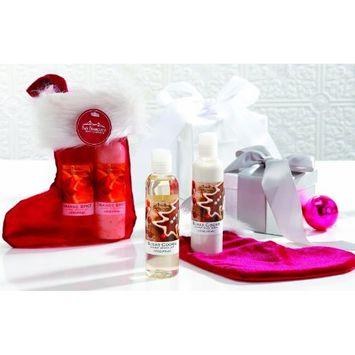 San Francisco Soap Company Shower Gel & Lotion Gift Stocking Stuffer (Festive Miniature Gift Sets) (Sugar Cookie)