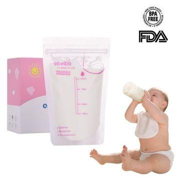 Breast Milk Storage Bags, Pueri 30 Count Breastmilk Storage Bags Breastfeeding Freezer Storage Container Bags (100ML)