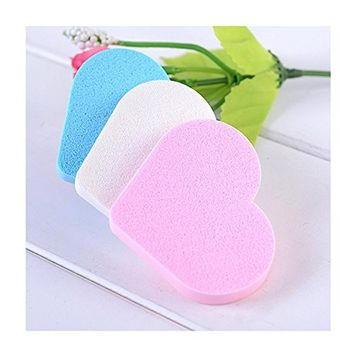 Doinshop Pro Beauty Flawless Sponge Makeup Cute Heart Foundation Puff Brushes Pack 3