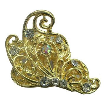 Small Butterfly Jaw Clip Small Fancy Claw Clip Fancy Gold Tone Hair Clip RW86460-6618g