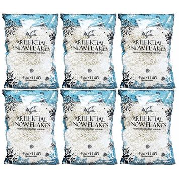 24oz of Artificial Snow Flakes - 4oz Bags By Black Duck Brand!