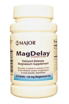 MagDelay Magnesium Supplement 64 mg Strength Tablets, 60 per Bottle