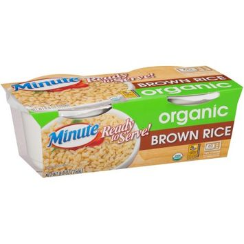 Riviana Foods, Inc. Minute ® Ready To Serve Organic Brown Rice 8.8 oz. Pack
