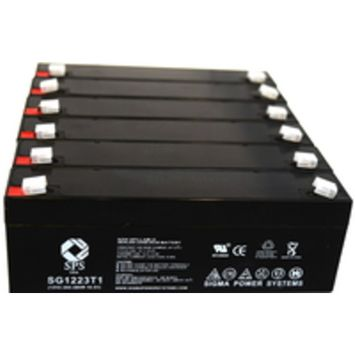 SPS Brand 12V 2.3 Ah Replacement Battery for Zimmer Medical ATS 1000 (6 pack)