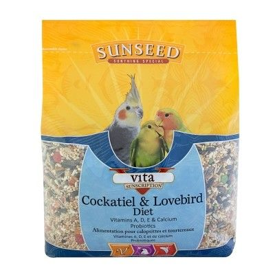 Sun Seed VITA SUNSCRIPTION COCKATIEL & LOVEBIRD FORMULA 5 POUND