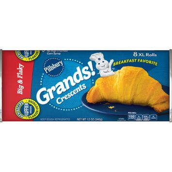 Pillsbury Grands! Crescent Rolls Big and Flaky, 8 Ct, 12 oz