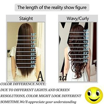 Clip in Hair Extensions Synthetic Full Head Hairpieces Japanese Kanekalon Fiber Thick Long Wavy Curly Soft Silky 8pcs 18clips for Women Fashion and Beauty 24'' / 24...