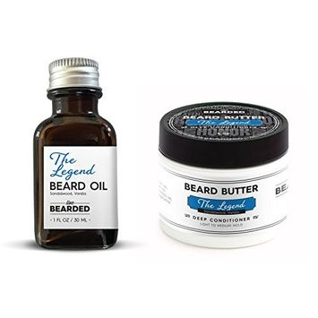 Sandalwood Beard Oil Kit   Live Bearded Made in USA   Legend - Sandalwood with a touch of Vanilla Mens Beard Oil Kit [Sandalwood Vanilla - The Legend]
