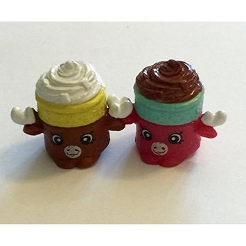 2016 Shopkins Season 5 Sweet Treats Set of 2- Brown Mandy Mousse #5-084 & Red Mandy Mousse #5-092