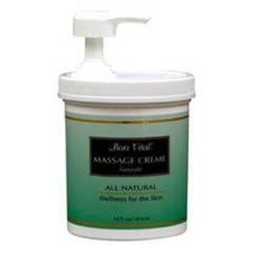 Bon Vital' BVNATCHG Natural Massage Crème Made with Natural Ingredients for an Earth-Friendly and Relaxing Massage, Half gal Jar []
