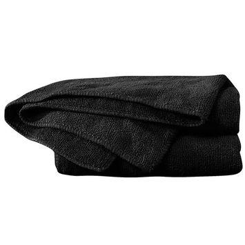 For Pro Cozy Microfiber Towels, Black, 10 Count