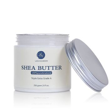 Lagunamoon Pure Raw Shea Butter, Organic Ivory Shea Butter for Natural Skin Care, Hair Care