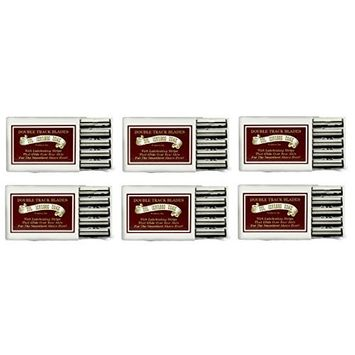 Colonel Ichabod Conk Trac II Razor Blades 10 ct. (Pack of 6) + FREE Travel Toothbrush, Color May Vary