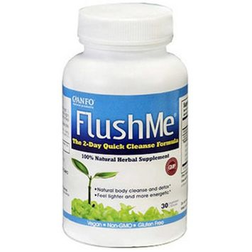Canfo Naturals FlushMe 2-Day Quick Colon Cleanse Formula, Natural Herbal Supplement, 30 CT