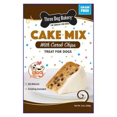 Three Dog Bakery Cake Mix Grain Free with Carob Chips Dog ...